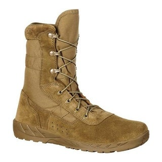 Rocky Men's C7 CXT Lightweight Commercial Military Boot RKC065 Coyote Brown Leather/Synthetic