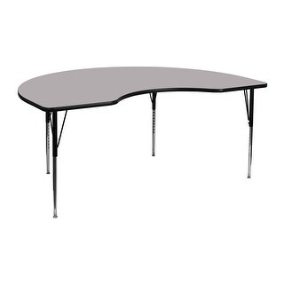 Fun & Games Activity Table 48''W x 72''L Kidney Grey Thermal Laminate Adj Height