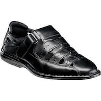 Stacy Adams Men's Bridgeport Fisherman Sandal 25184 Black Synthetic