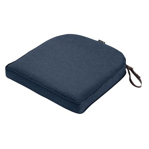 "Montlake FadeSafe Contoured Patio Dining Seat Cushion-18""Lx18""Wx2""H"