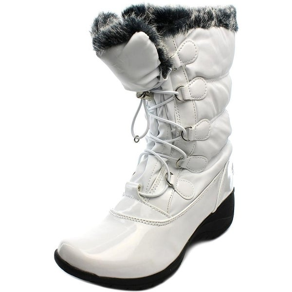 Totes Lisa Women Round Toe Synthetic White Snow Boot