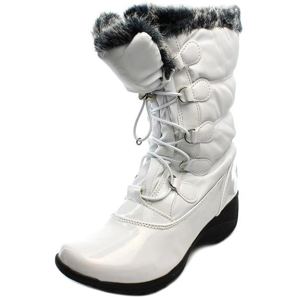 Totes Lisa Women W Round Toe Synthetic White Snow Boot