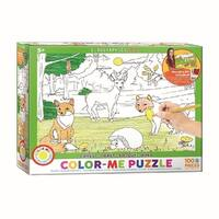 Color Me Forest 100 Piece Puzzle, 100 Piece Puzzles by Eurographics