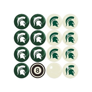 NCAA Michigan State Billiard Balls Complete Set of 16 Balls - White