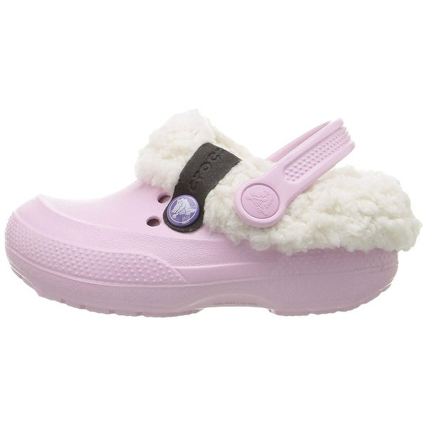 crocs 14462 Blitzen II Lined Clog Toddler//Little Kid ,Navy//Oatmeal,C8//9 Toddler