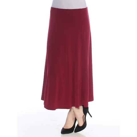 ALFANI Womens Burgundy Pleated Maxi A-Line Wear To Work Skirt Size: XS