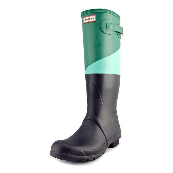 Hunter Orignial ASYM CBlock Women Dark Malachite/Tgn/Blk Snow Boots