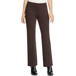 Eileen Fisher Womens Casual Pants Ponte Straight Leg