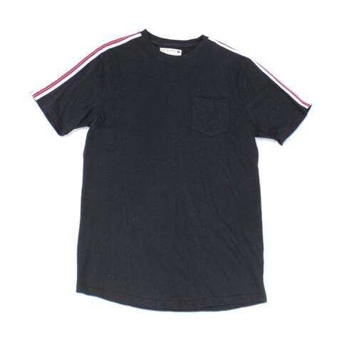 Retrofit Mens T-Shirt Black Size Small S Stripe Colorblock Trim Tee