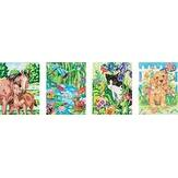 "Animal Friends - Pencil Works Color By Number Kit 9""X12"" 4/Pkg"
