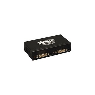 Tripp Lite B116-002A Tripp Lite 2-Port DVI Splitter with Audio and Signal Booster, Single Link - 1920x1200 at 60Hz / 1080p (DVI