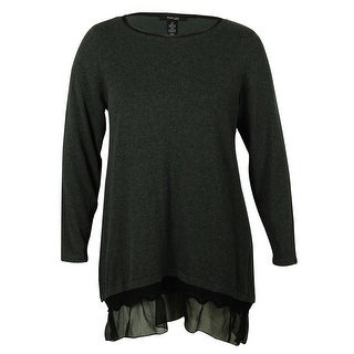 Style & Co Women's Chiffon Crewneck Tunic Blouse