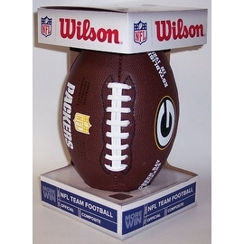 Wilson Green Bay Packers Full Size Composite NFL Football  F1748