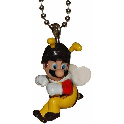 """Super Mario Galaxy 2 1.5"""" Character Keychain: Bee Mario - Multi"""
