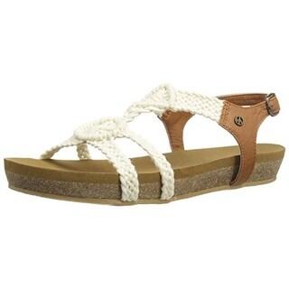 Groove Womens T-Baby Crochet Buckle Flat Sandals