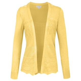 NE PEOPLE Women's Lightweight Knit Long Sleeve Cardigan [NEWJ180] (More options available)