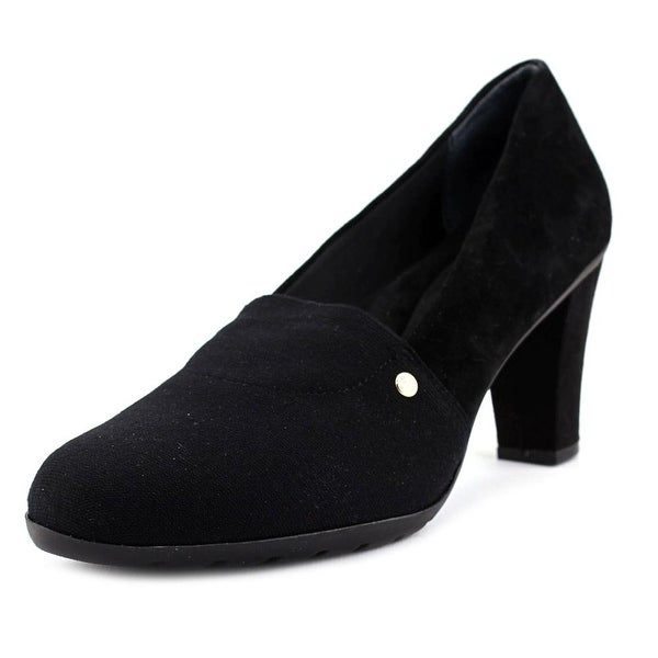 Giani Bernini Dalisa Women Round Toe Canvas Black Heels