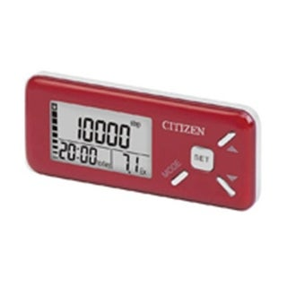 Veridian TW-610R Citizen Deluxe Digital Pocket Pedometer-Red