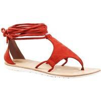 Diba True Women's This N That Ankle Strap Thong Sandal Mango Suede