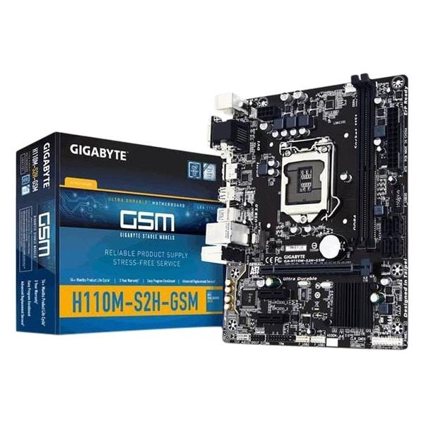 Gigabyte Motherboard Micro Atx Ddr4 Lga 1151 Ga-H110m-S2h Gsm
