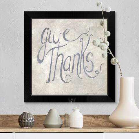 """Give Thanks"" Black Framed Print"