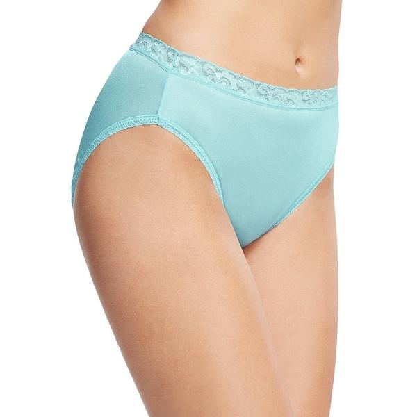 Hanes Women's Nylon Hi-Cut Panties 6-Pack - Size - 8 - Color - Assorted