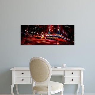 Easy Art Prints Panoramic Image 'Radio City Music Hall, Rockefeller Center, Manhattan, New York City' Canvas Art
