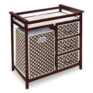 Costway Cherry Infant Baby Changing Table w/3 Basket Hamper Diaper Storage Nursery|https://ak1.ostkcdn.com/images/products/is/images/direct/dcea19aa82734c3c9c864cb7816df4aeb906a799/Costway-Cherry-Infant-Baby-Changing-Table-w-3-Basket-Hamper-Diaper-Storage-Nursery.jpg?impolicy=medium
