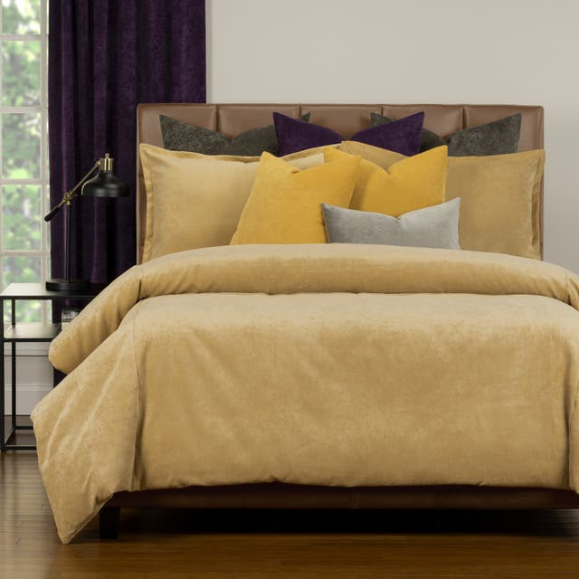 Mixology Padma 10 Piece Duvet Cover and Insert Set - Old Gold - King