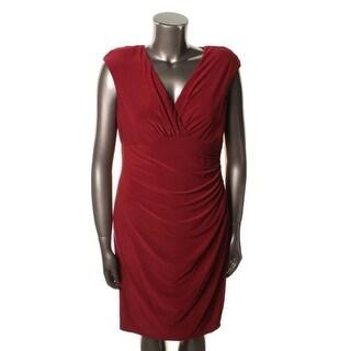 Ralph Lauren Womens Matte Jersey Sleeveless Cocktail Dress - 10