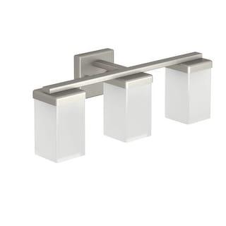 """Moen YB8863 90 Degree 20"""" Wide 3 Light Reversible Bathroom Vanity Light Fixture"""