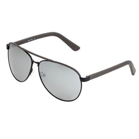 Sixty One Wreck Polarized Sunglasses - Black/Silver - Silver