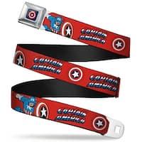 Marvel Comics Captain America Shield Full Color Navy Captain America W Seatbelt Belt