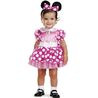 Disguise Mickey Mouse Clubhouse Pink Minnie Mouse Toddler Costume - 12-18