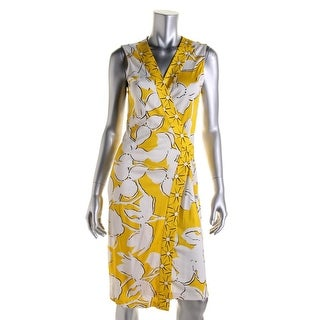 Diane Von Furstenberg Womens New Yahzi Silk Printed Wrap Dress - 12