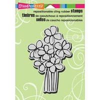"Blossom Bunch - Stampendous Cling Rubber Stamp 3.5""X4"" Sheet"