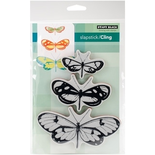 "Penny Black Cling Stamp 5""X7""-Butterfly Trio"
