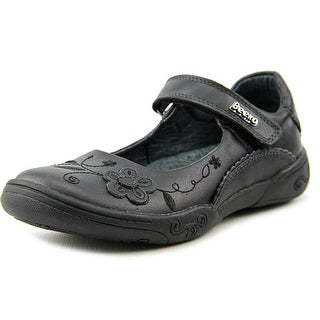 Beeko Alecia Youth Round Toe Leather Mary Janes