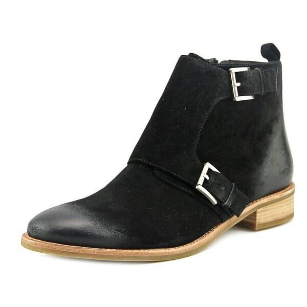 Michael Michael Kors Adams Monk Strap Bootie Women Black Boots