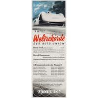 3 Neue Weltrekorde (Mundorff) Vintage Poster (Art Print - Multiple Sizes)