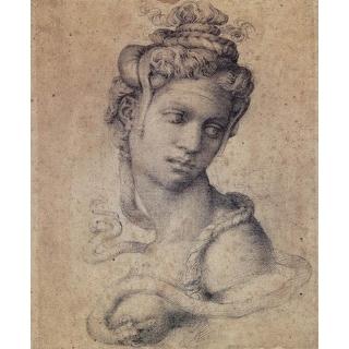 Easy Art Prints Michelangelo's 'Cleopatra' Premium Canvas Art