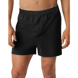 Hanes Men's TAGLESS® Knit Boxers with Comfort Flex® Waistband 3X-5X 3-Pack - Size - 5XL - Color - Black/Grey