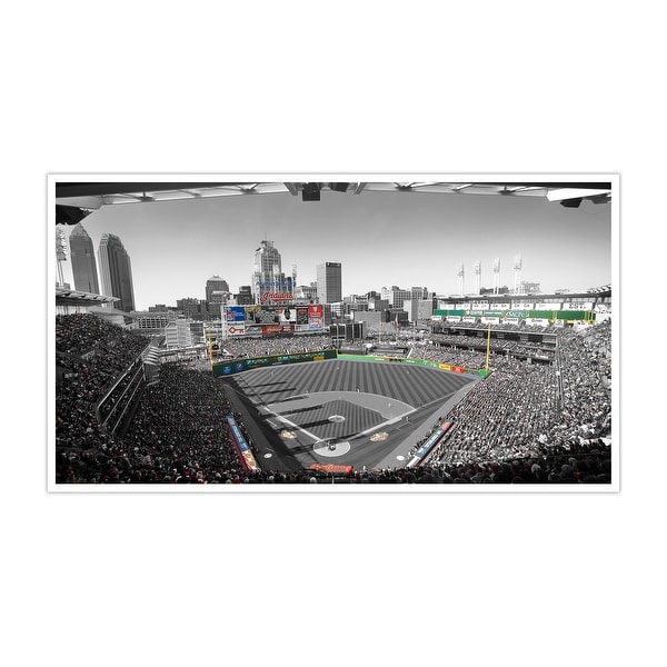 Cleveland Indians - Progressive Field Touch of Color Baseball Ballparks Matte Poster 36x20