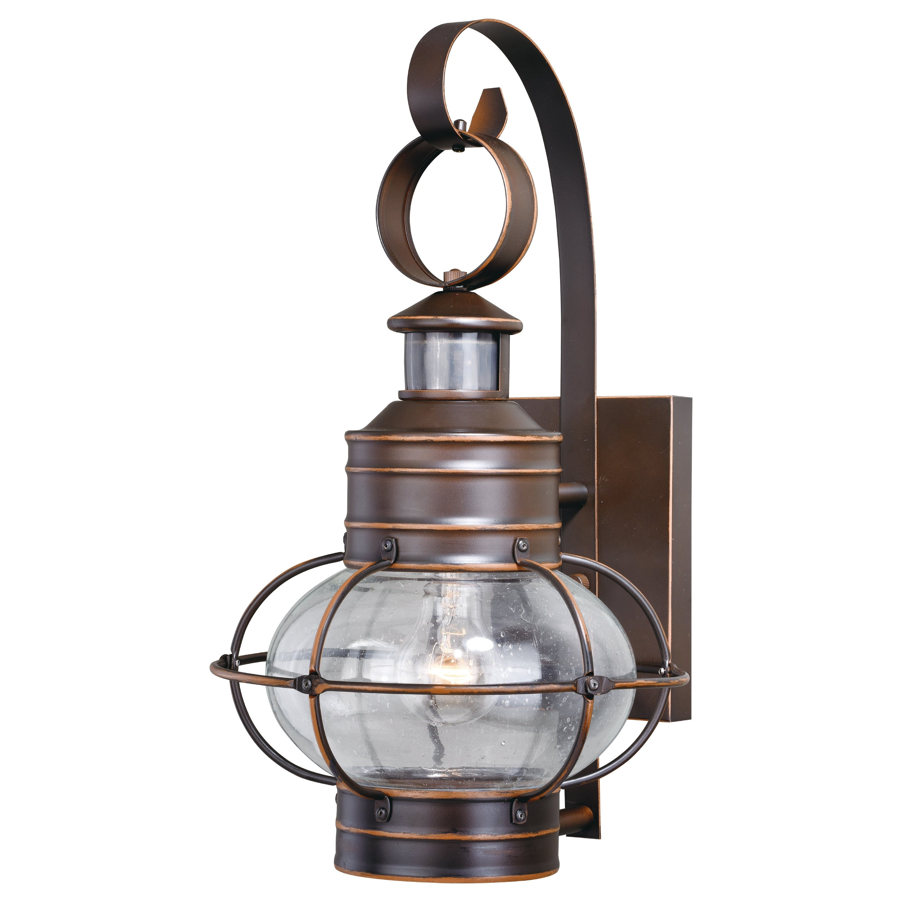 Image of: Shop Black Friday Deals On Chatham Bronze Motion Sensor Dusk To Dawn Coastal Outdoor Wall Light 9 75 In W X 17 5 In H X 11 In D Overstock 20877039