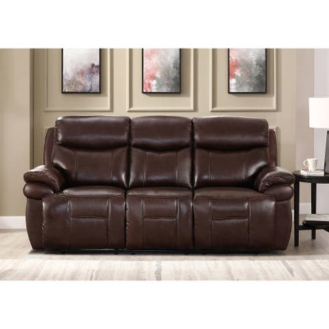 Hydeline Springdale Leather Power Reclining Sofa with USB-Ports