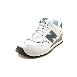 New Balance NB574 Men  Round Toe Leather White Fashion Sneakers