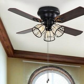 "Safavieh Lighting 42-inch Landi LED Ceiling Light Fan - 42"" W x 42"" L x 14"" H"