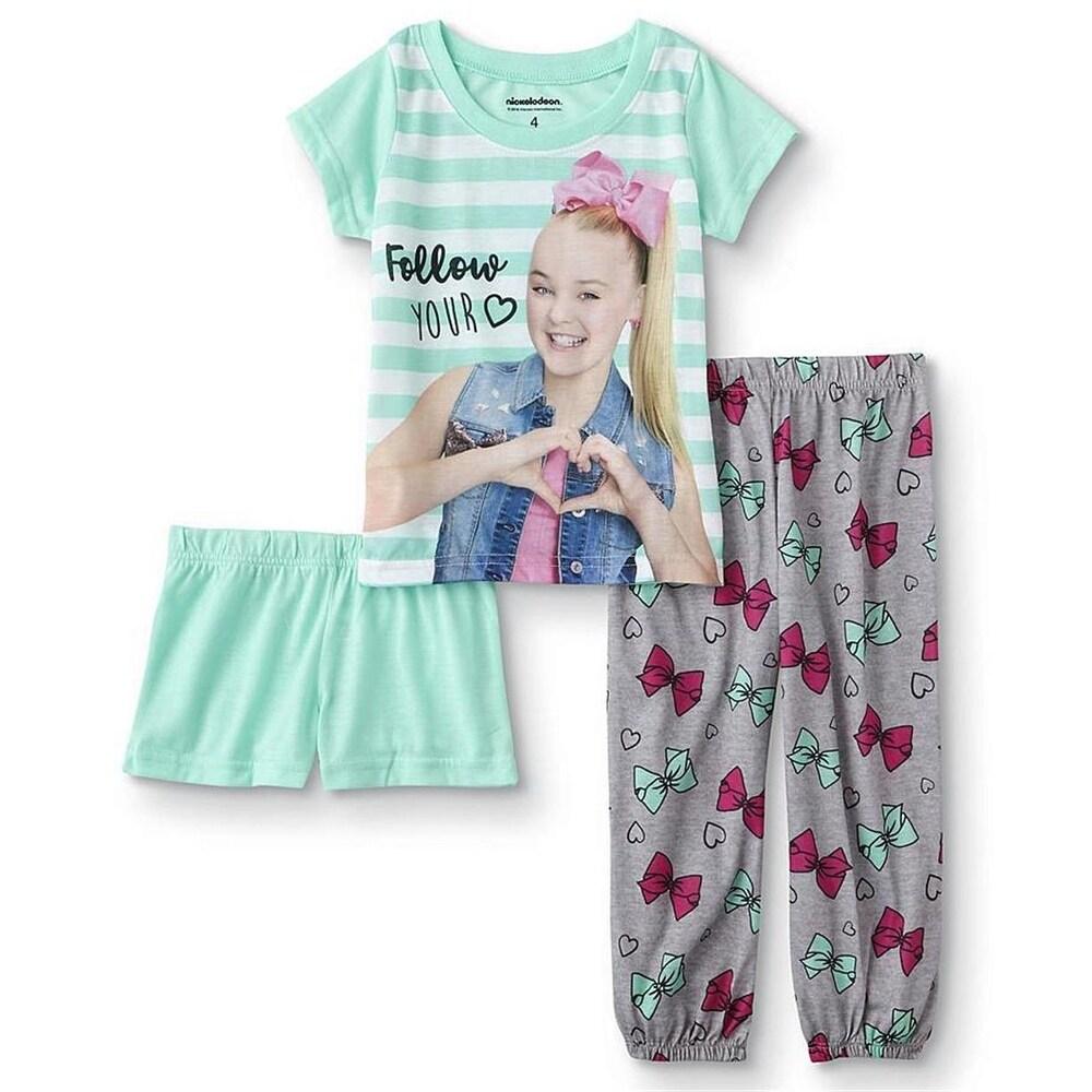 Nickelodeon Girls JoJo Siwa 4-Piece Cotton Pajama Set