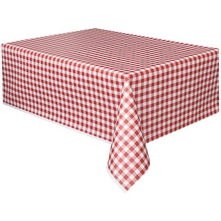 """Printed Tablecover 54""""X108""""-Red & White Check - red & white check"""