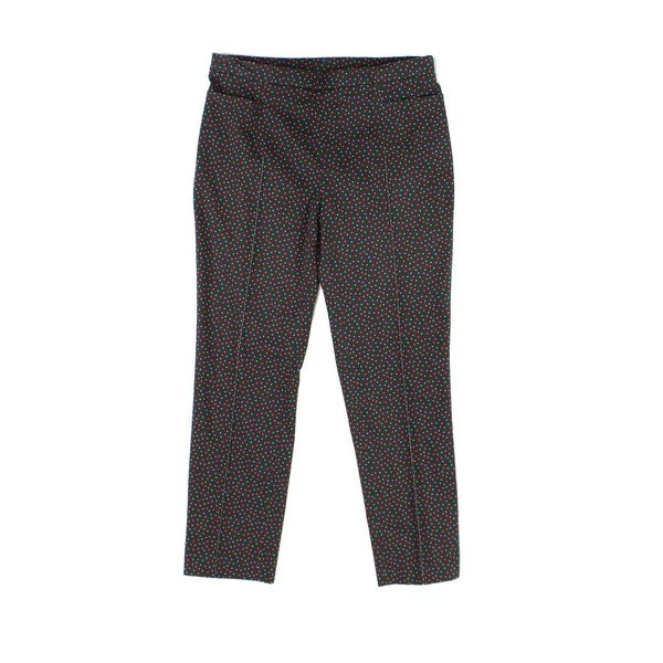 Akris Punto Womens Wool Dot Print Pleated Pants